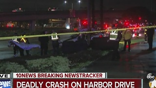 Deadly crash on Harbor Drive - Video