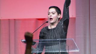 Rose McGowan speaks publicly in Detroit, first time since Weinstein allegations - Video
