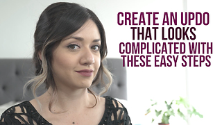 Create an updo that looks complicated with these easy steps - Video
