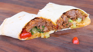 Slow Down and Grill up These Barbacoa Beef Wraps - Video