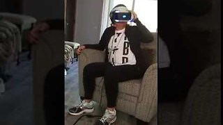 First Taste of Virtual Reality Gives Mom Hilarious Shock - Video