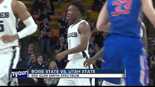 Utah State holds off Boise State, wins 71-65 - Video