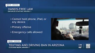 Hands-free law to be enforced in Arizona starting January 1, 2021