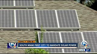 South Miami likely to mandate solar panels on new homes - Video