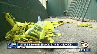 Little League snack bar ransacked - Video