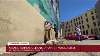 Grand Rapids cleans up after vandalism