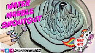 Nail art water marble shout out | Dearnatural62 - Video