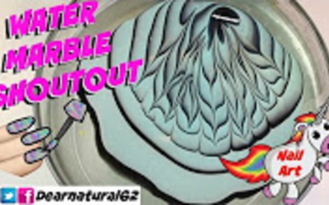 Nail art water marble shout out | Dearnatural62