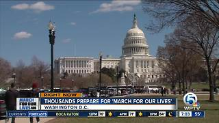 Marjory Stoneman Douglas students gather in DC, prepare for march - Video
