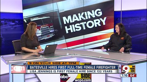 Batesville hires first full-time female firefighter in department's 132-year history
