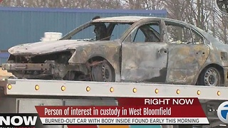 Body found in burned car - Video
