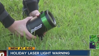 Holiday laser lights warning: careful where you point them - Video