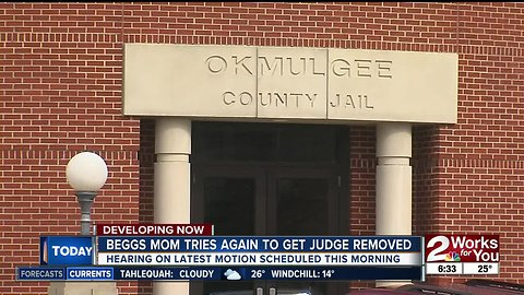 Beggs mother tries again for new judge in murder case