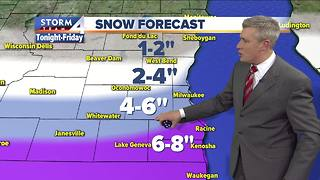 Winter Storm Warning in effect Thursday evening - Video