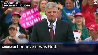 WATCH: Rev. Graham Says God Had a Role in Electing Trump to White House - Video