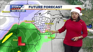 Dusting of snow possible for Christmas Day - Video