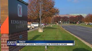 Metro Detroit church loses thousands in possible scam - Video