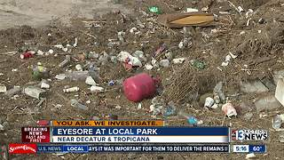 People upset by trash littering Charlie Frias Park - Video
