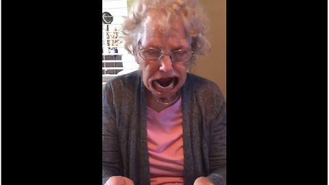 Grandma Loses Her Dentures During Phrase-Guessing Game
