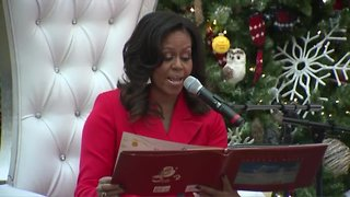 Former first lady Michelle Obama visits kids at Children's Hospital Colorado