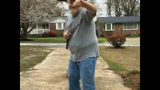 "Man With ""Knife Through His Head"" Goes Skateboarding Holding Nunchucks - Video"