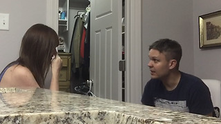A Woman Pranks Her Husband With Fake Pregnancy Test - Video