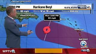 Hurricane Beryl packs 80 mph winds, TD Three forms - Video