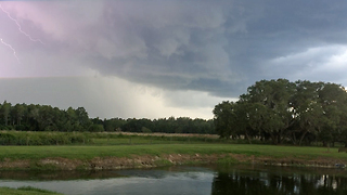 Lightning storm over the lake at Casa Bella Estate - Video