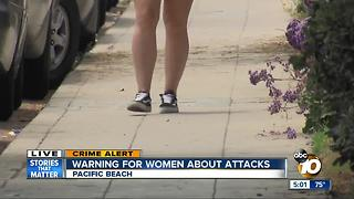 Warning for women about attacks