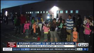 Brookman Elementary attempts to set 2nd World Record - Video