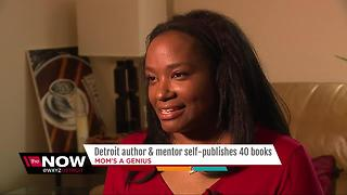 Detroit author and mentor self-publishes 40 books - Video