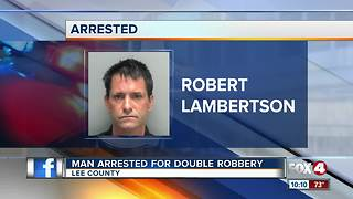 Man Arrested for Double Robbery - Video