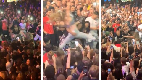 Bump And Grind! Pair Of Women Savagely Fight Each Other Mid-Concert