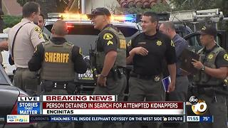 Person detained in search for Encinitas attempted kidnappers - Video