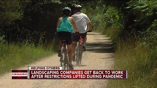 Landscaping companies get back to work after restrictions lifted