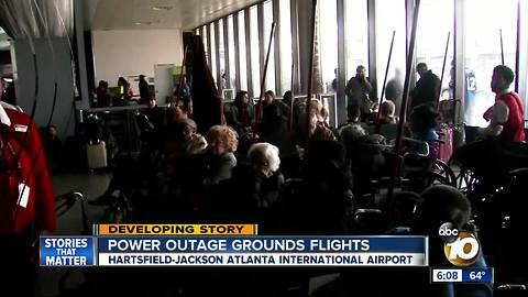 Power outage grounds flights at Atlanta airport
