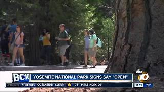 Yosemite National Park reopens