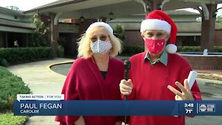 Carolers bring holiday cheer to patients at Suncoast Hospice