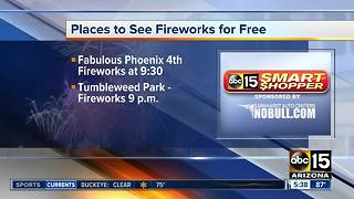 Free places to watch fireworks in the Valley