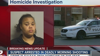 Murder suspect in jail after West Tulsa homicide - Video