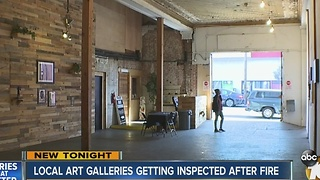 Local art gallery inspected after Oakland fire - Video