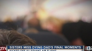 Sisters miss saying goodbye to dying father - Video