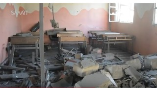Airstrike Hits School West of Aleppo, Causing Major Damage - Video