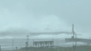 Huge Waves Hit Taiwan's Shore as Typhoon Makes Landfall - Video