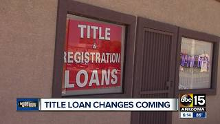 New rules released for title loans - Video