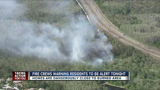 Voluntary evacuations prompted by brush fires lifted in Pasco County - Video