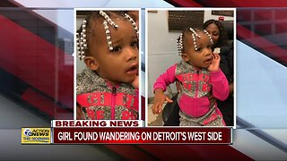 Detroit police search for parents of young girl found wandering late Thursday night