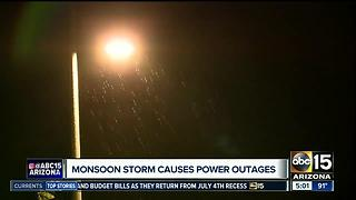 Monsoon storm causes power outages in Valley - Video