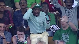 Celtics Fan Dances to 'Poison' During Game 5 vs Wizards (Vocals by Britt Johnson) - Video