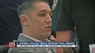 Trial begins for triple murder suspect Andres Avalos - Video